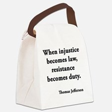 resisdut Canvas Lunch Bag