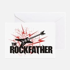 rockfather_black Greeting Card