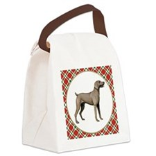 RDORN-weimaraner-christmas Canvas Lunch Bag
