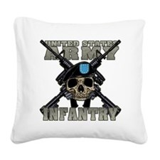 infantry skull Square Canvas Pillow