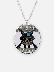 infantry skull Necklace