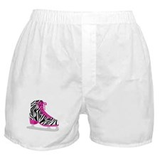 Zebra Pink and Black Ice Skate Boxer Shorts