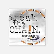 """breakthechain Square Sticker 3"""" x 3"""""""