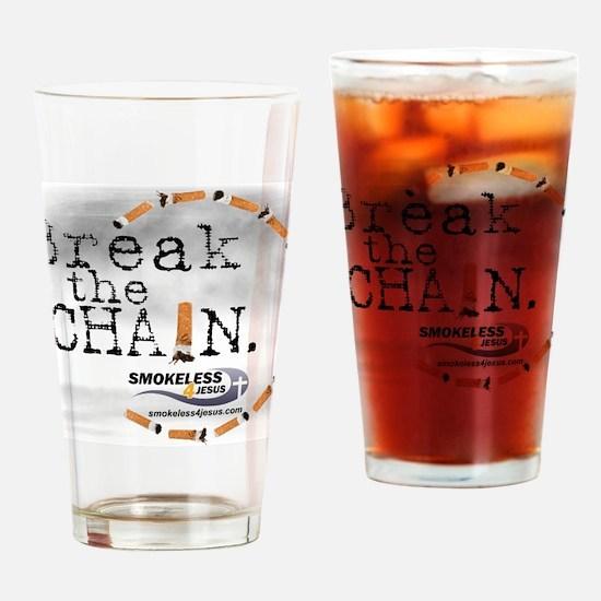 3-breakthechain Drinking Glass