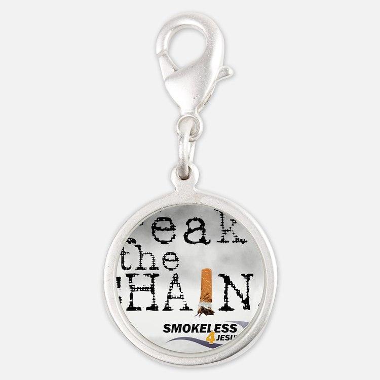 3-breakthechain Silver Round Charm