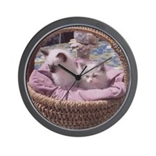 Ragdoll Kittens Wall Clock
