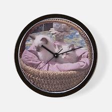 Ragdoll Kittens Wall Clock