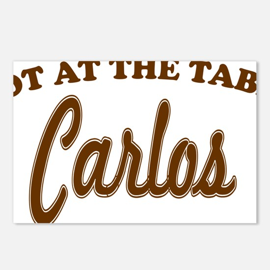 not at the table brown Postcards (Package of 8)