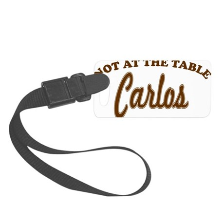 not at the table brown Small Luggage Tag