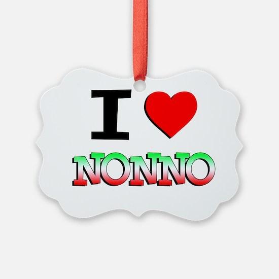 I Love Nonno Baby Shirt Ornament