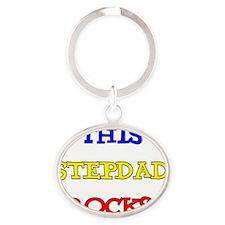 Stepdad Oval Keychain