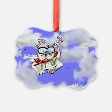 sky diver Staffie Ornament