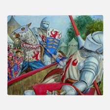joust large square Throw Blanket