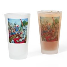 joust large square Drinking Glass