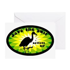 save the gulf boycott oval Greeting Card