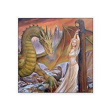 """a a dragon horiz det Square Sticker 3"""" x 3"""""""