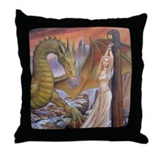 a a dragon horiz det Throw Pillow