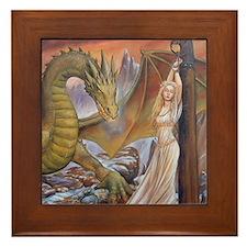a a dragon horiz det Framed Tile