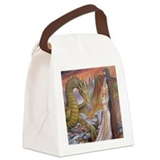 a a dragon horiz det Canvas Lunch Bag