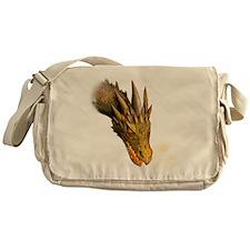 a dragon head square Messenger Bag