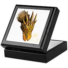 a dragon head square Keepsake Box