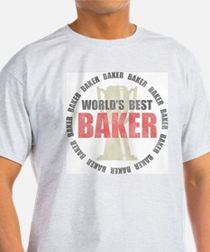 World's Best Baker Ash Grey T-Shirt