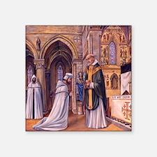 "Templar Mass large square Square Sticker 3"" x 3"""