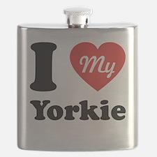 I Heart My Yorkie Flask