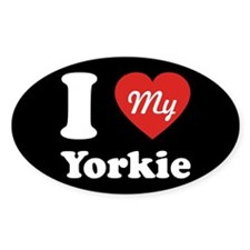 I Heart My Yorkie Decal