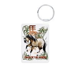 Year O fThe Horse Trans Aluminum Photo Keychain