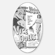Vice Dolls Sticker (Oval)