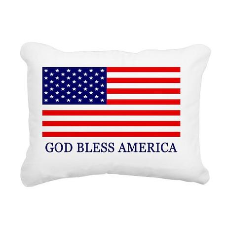 GOD BLESS AMERICA YARD S Rectangular Canvas Pillow