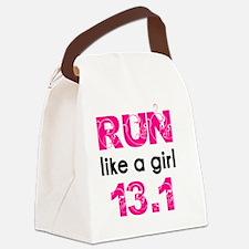 running_swirl_sticker13 Canvas Lunch Bag