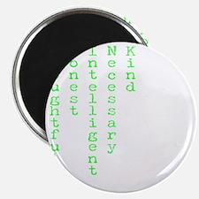 Think Green Transparent Magnet