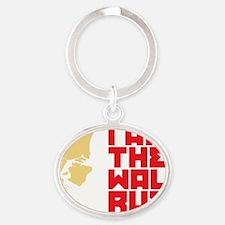 I am the walrus Oval Keychain