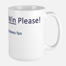 please let the mets win Large Mug