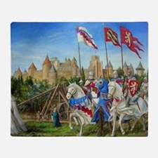 Dscn0918 siege carcassonne Throw Blanket