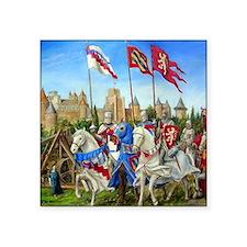 """siege carcassonne squ Square Sticker 3"""" x 3"""""""