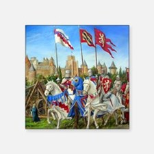 "siege carcassonne squ Square Sticker 3"" x 3"""