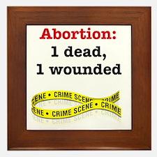 Abortion1Dead1WoundedLight Framed Tile