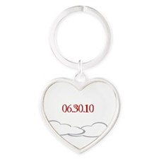eclipse with jacob quote and date Heart Keychain