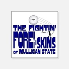 """2-mull foreskins OF MUUL5 Square Sticker 3"""" x 3"""""""