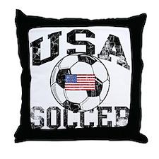 usa soccerballWHT Throw Pillow