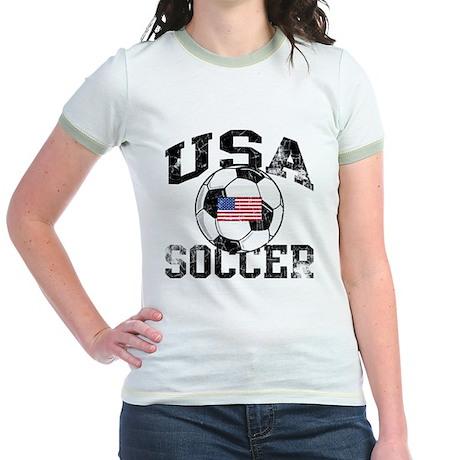 usa soccerballWHT Jr. Ringer T-Shirt