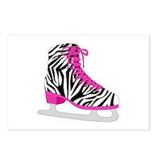 Zebra Pink and Black Ice Skate Postcards (Package
