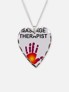 MASSAGE THERAPIST BLK W SUN H Necklace