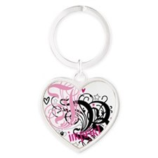 jb-PINK Heart Keychain