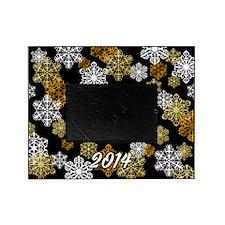 2014 Black W/ Gold Snowflake Photo Picture Frameg