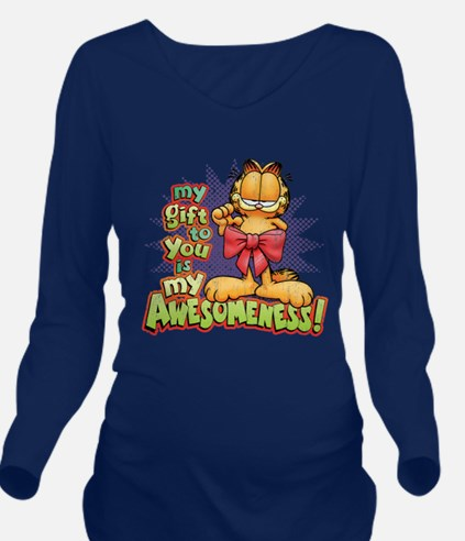 My Awesomeness Long Sleeve Maternity T-Shirt