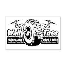 Wallys-Tires-BLK-tranz Rectangle Car Magnet